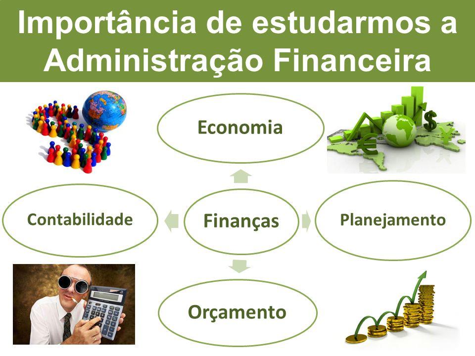 Finanças Economia Planejamento Orçamento Contabilidade Importância de estudarmos a Administração Financeira