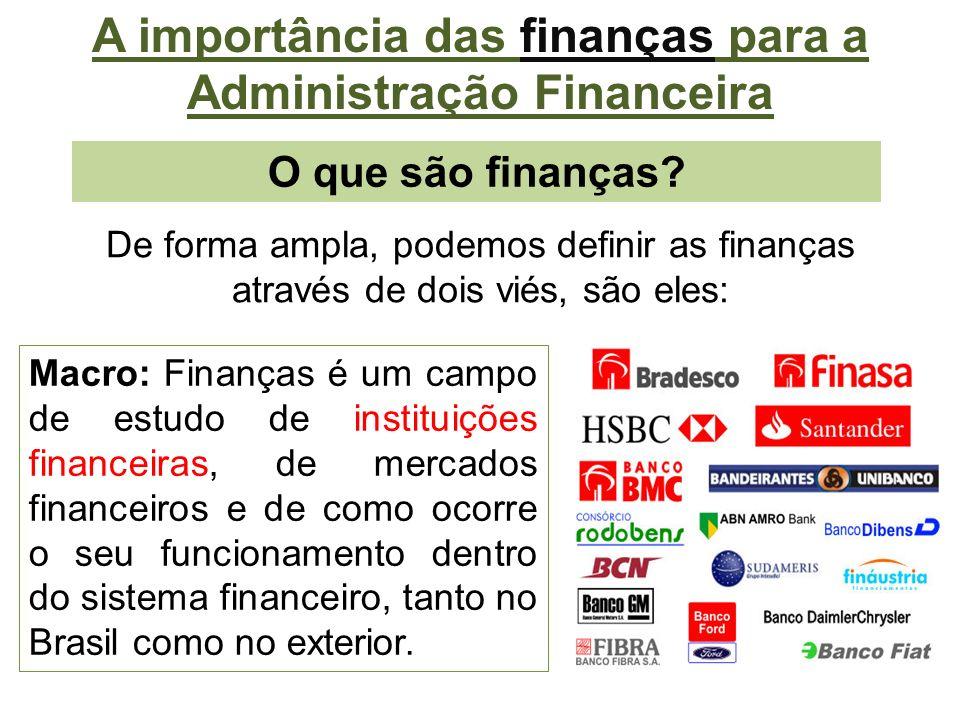 O que são finanças.