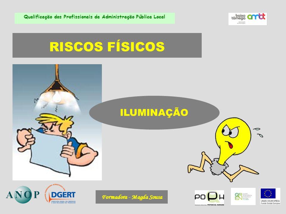 Formadora - Magda Sousa Qualificação dos Profissionais da Administração Pública Local RISCOS FÍSICOS ILUMINAÇÃO