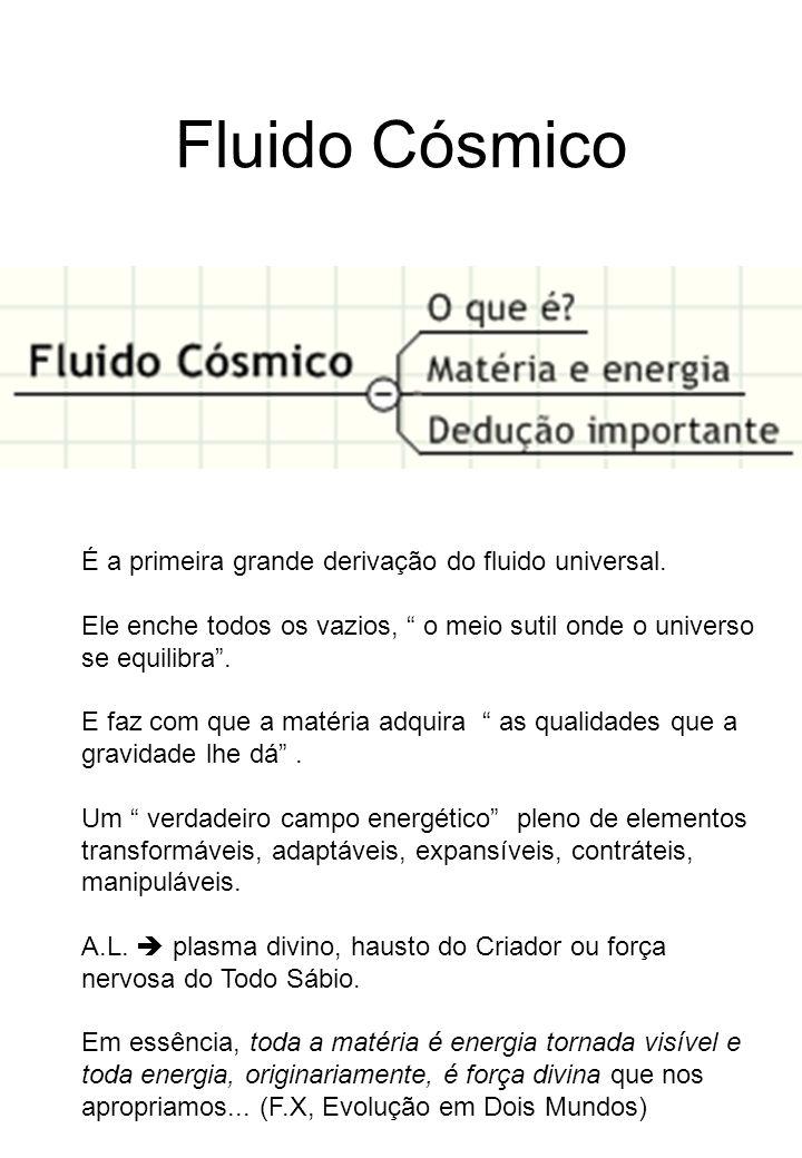 Fluido Cósmico É a primeira grande derivação do fluido universal.