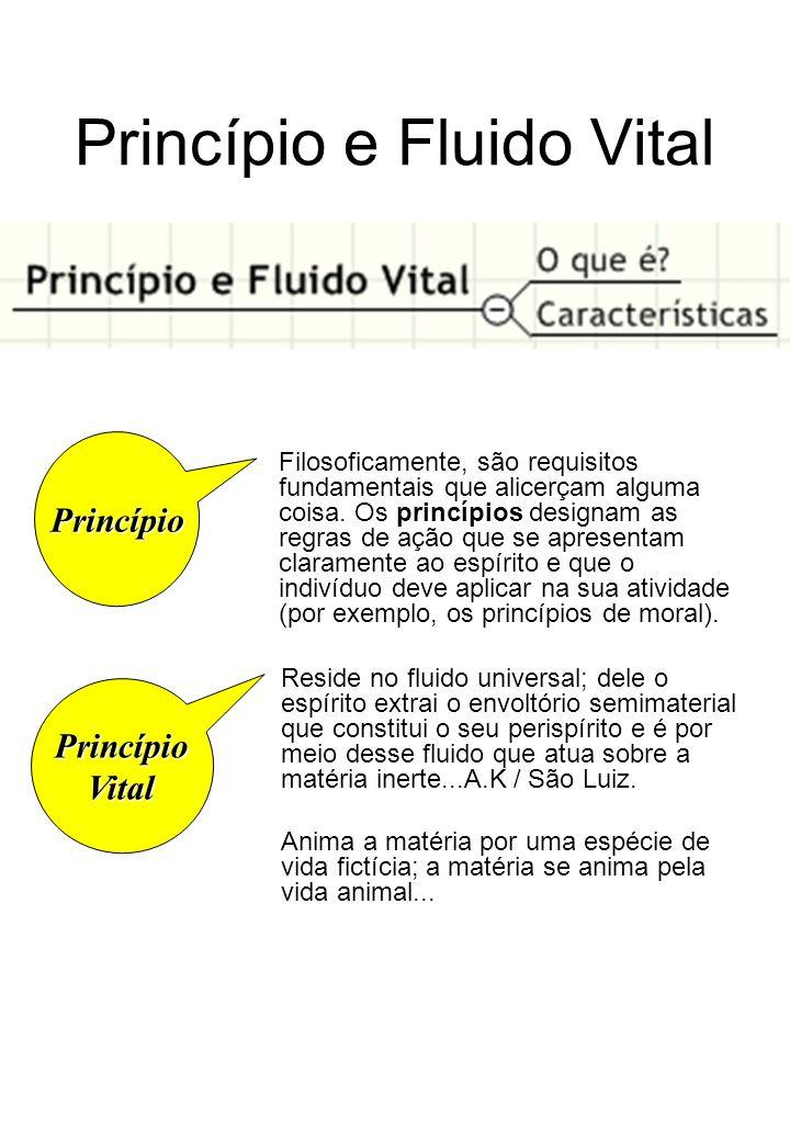 Princípio e Fluido Vital Princípio Filosoficamente, são requisitos fundamentais que alicerçam alguma coisa.