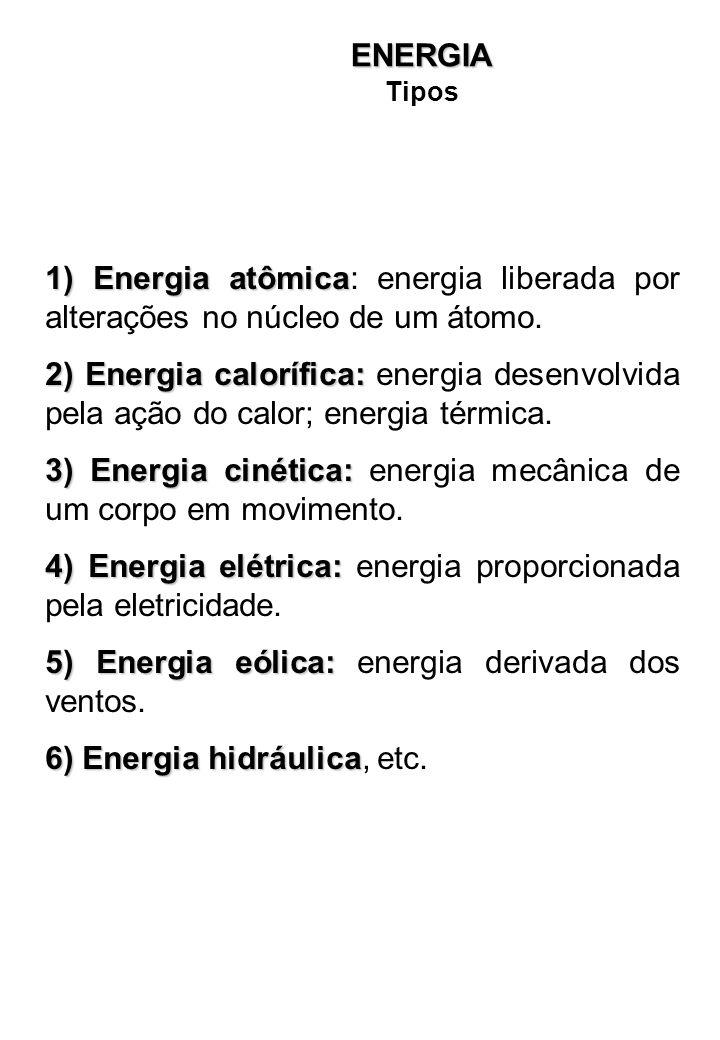 1)Energia atômica 1) Energia atômica: energia liberada por alterações no núcleo de um átomo.