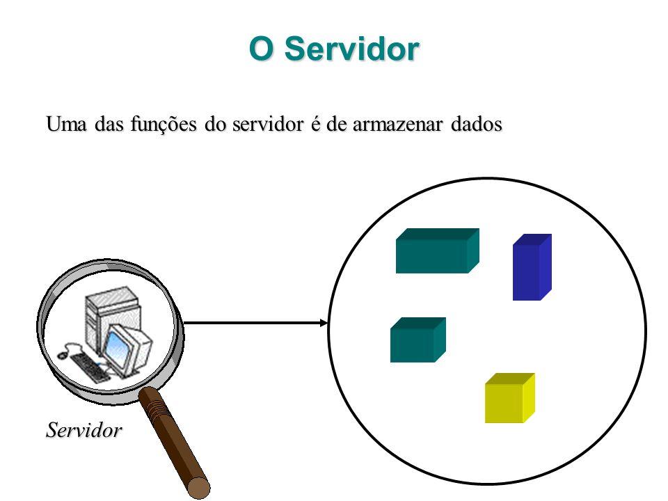 Servidor Uma das funções do servidor é de armazenar dados