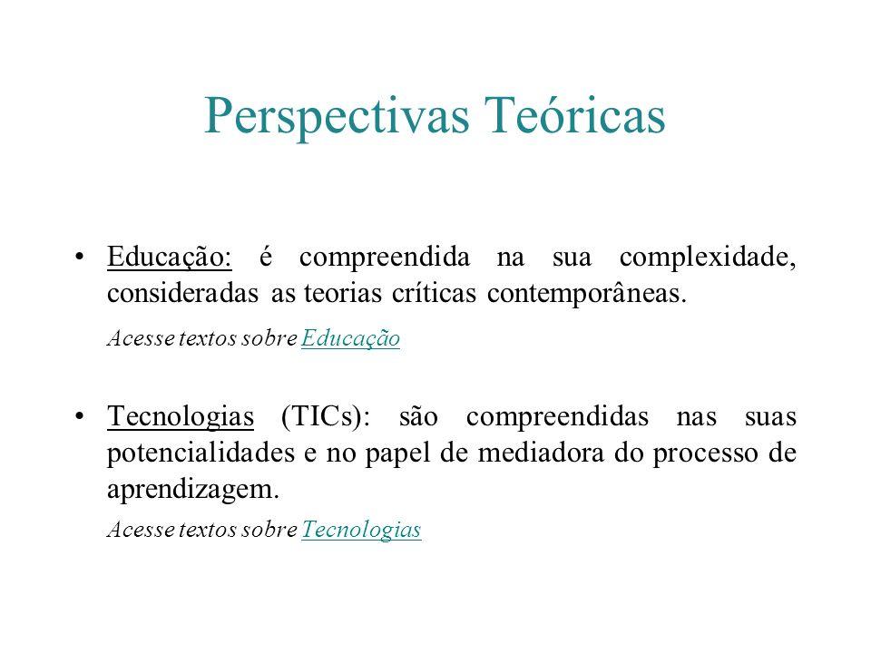 Perspectivas Teóricas Educação: é compreendida na sua complexidade, consideradas as teorias críticas contemporâneas. Acesse textos sobre EducaçãoEduca