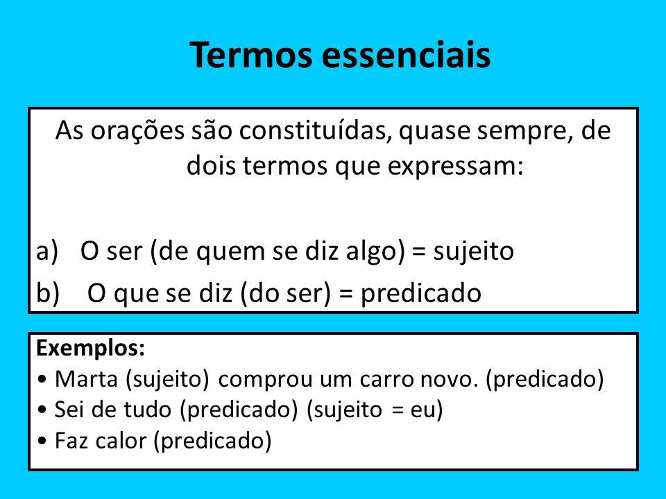 Complemento nominal Exemplo: O aluno (sujeito) tem (VTD) necessidade (OD) de ajuda.
