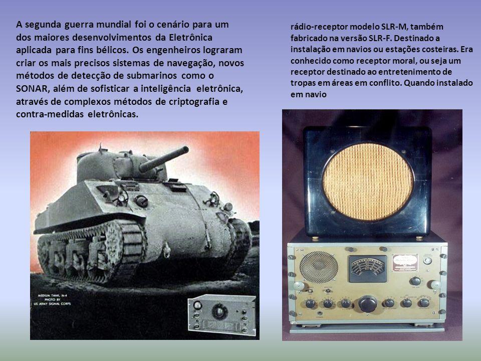 A segunda guerra mundial foi o cenário para um dos maiores desenvolvimentos da Eletrônica aplicada para fins bélicos.