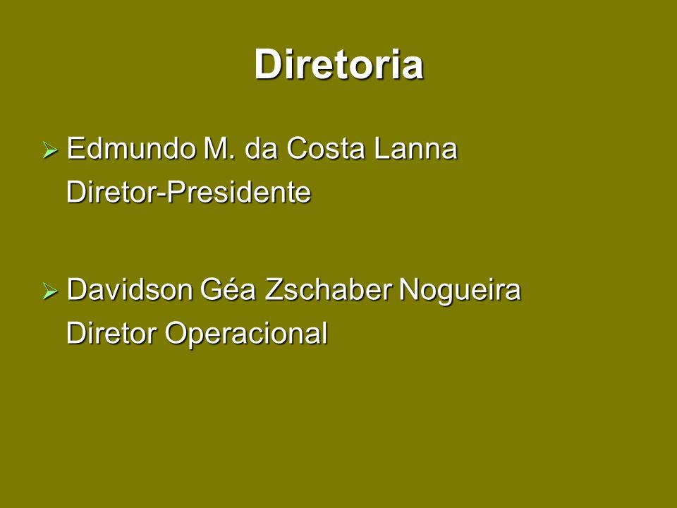 Diretoria Edmundo M. da Costa Lanna Edmundo M. da Costa Lanna Diretor-Presidente Diretor-Presidente Davidson Géa Zschaber Nogueira Davidson Géa Zschab