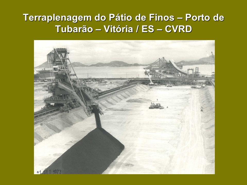 Terraplenagem do Pátio de Finos – Porto de Tubarão – Vitória / ES – CVRD