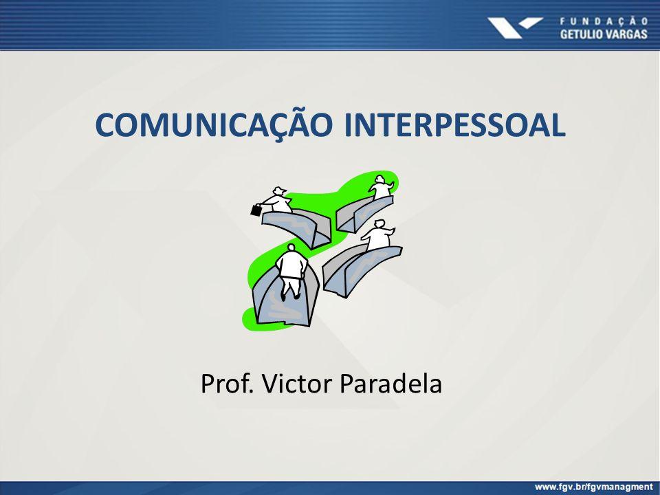 COMUNICAÇÃO INTERPESSOAL Prof. Victor Paradela