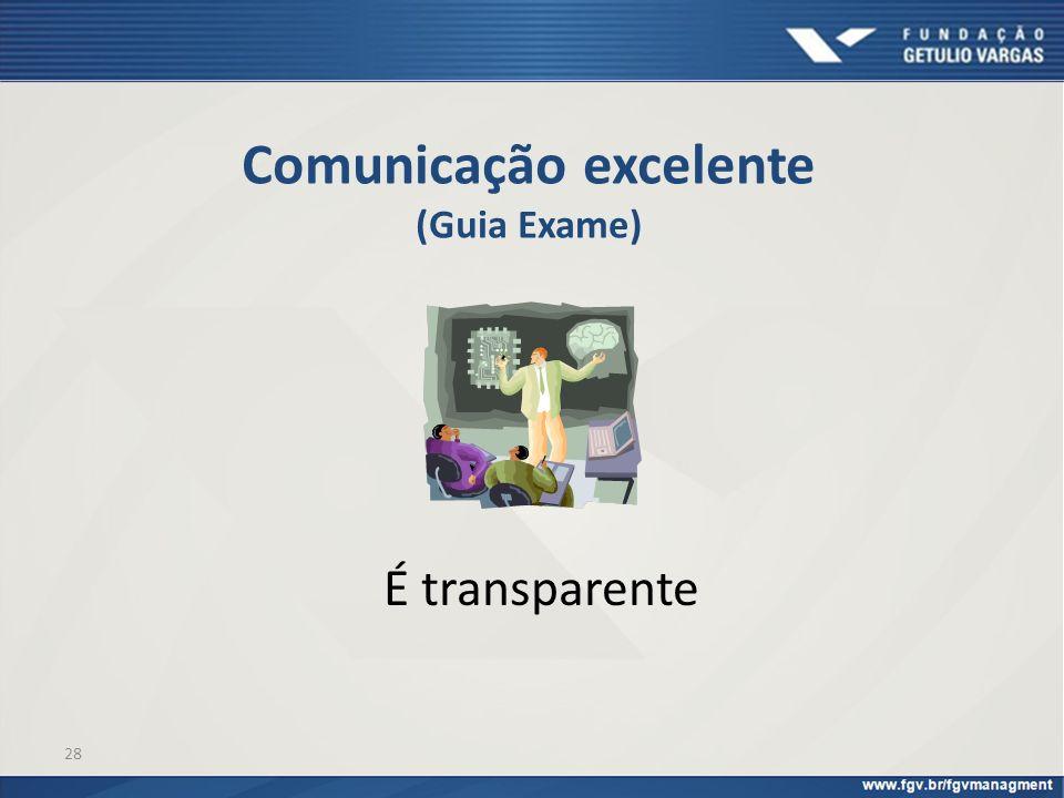 28 Comunicação excelente (Guia Exame) É transparente