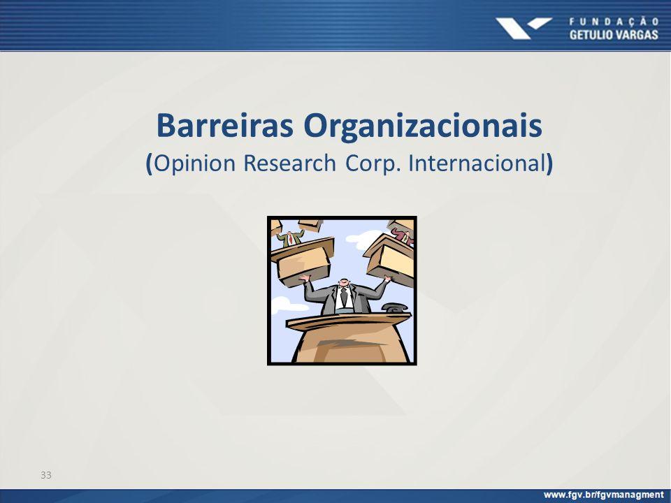 33 Barreiras Organizacionais (Opinion Research Corp. Internacional)