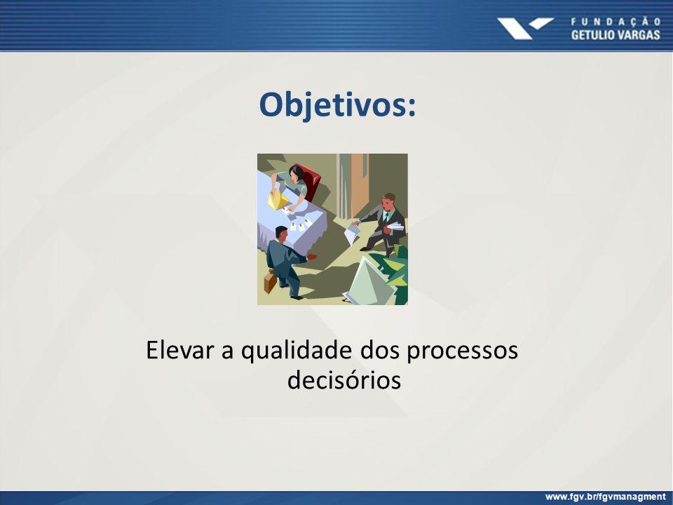 Objetivos: Elevar a qualidade dos processos decisórios