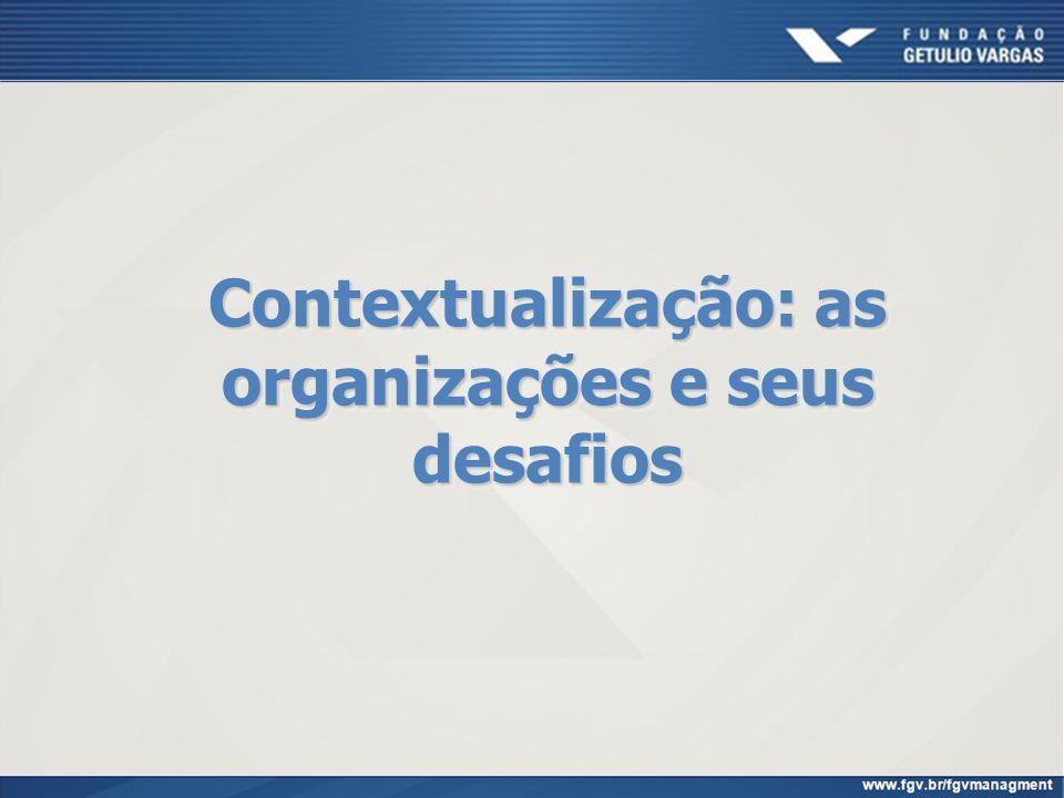 Contextualização: as organizações e seus desafios