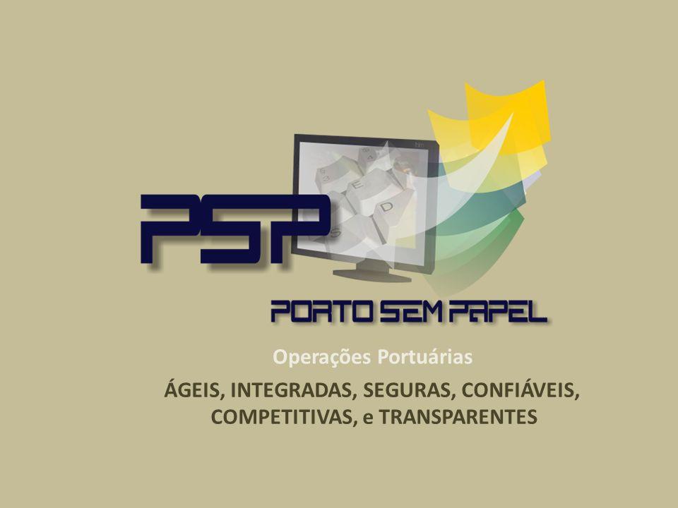 Operações Portuárias ÁGEIS, INTEGRADAS, SEGURAS, CONFIÁVEIS, COMPETITIVAS, e TRANSPARENTES