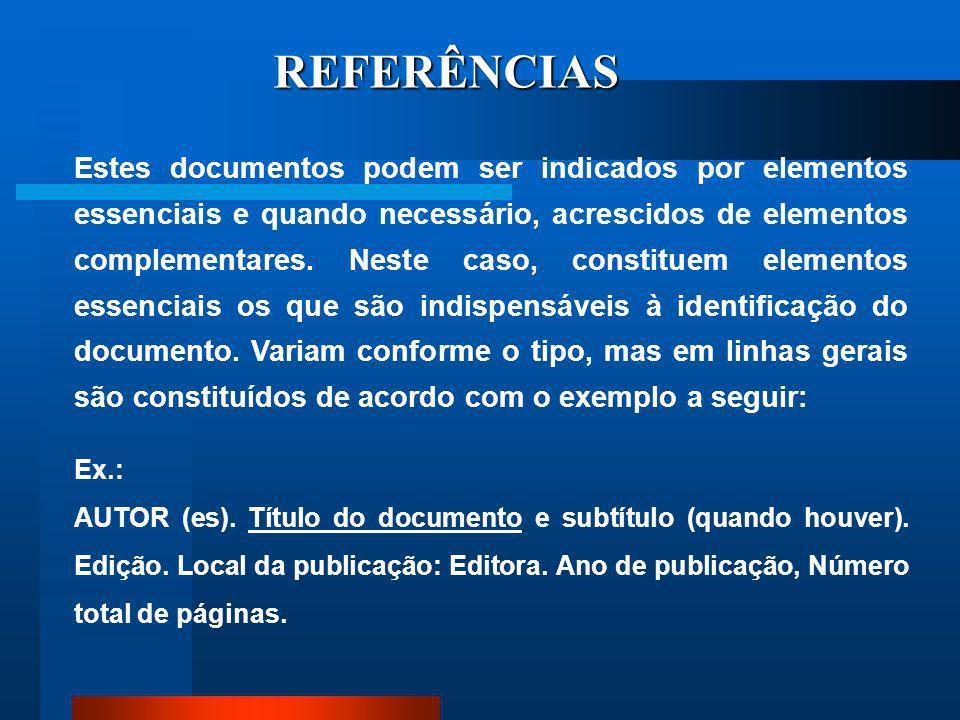 7 REFERÊNCIAS ASSOCIACÃO BRASILEIRA DE NORMAS TÉCNICAS. NBR 10520: informação e documentação: citações em documentos – apresentação. Rio de Janeiro, 2