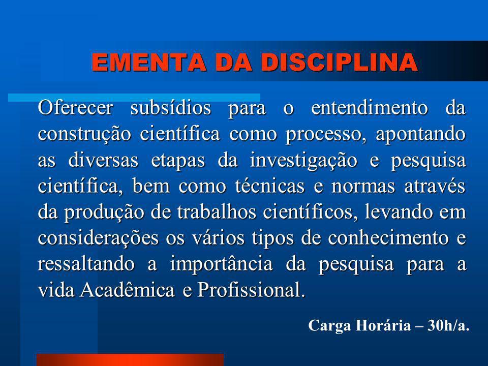 ROTEIRO PARA REALIZAÇÃO DE UMA PESQUISA 1.Escolha do assunto; 2.
