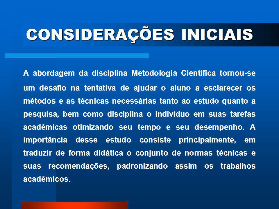 CONCLUSÕES Elemento obrigatório de um trabalho acadêmico.
