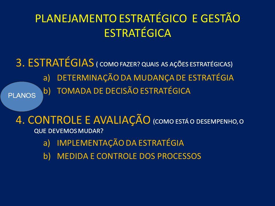 PLANEJAMENTO ESTRATÉGICO E GESTÃO ESTRATÉGICA 1.DIAGNÓSTICO ESTRATÉGICO ( ONDE ESTOU, COMO ESTOU, QUAL A SITUAÇÃO ATUAL) a)O NEGÓCIOO NEGÓCIO b)VISÃO