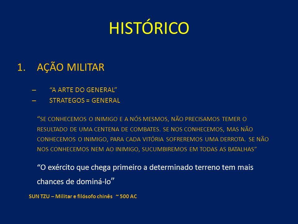 HISTÓRICO 1.AÇÃO MILITAR – A ARTE DO GENERAL – STRATEGOS = GENERAL SE CONHECEMOS O INIMIGO E A NÓS MESMOS, NÃO PRECISAMOS TEMER O RESULTADO DE UMA CENTENA DE COMBATES.