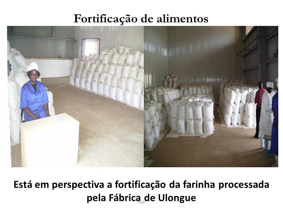 Está em perspectiva a fortificação da farinha processada pela Fábrica de Ulongue Fortificação de alimentos P4P