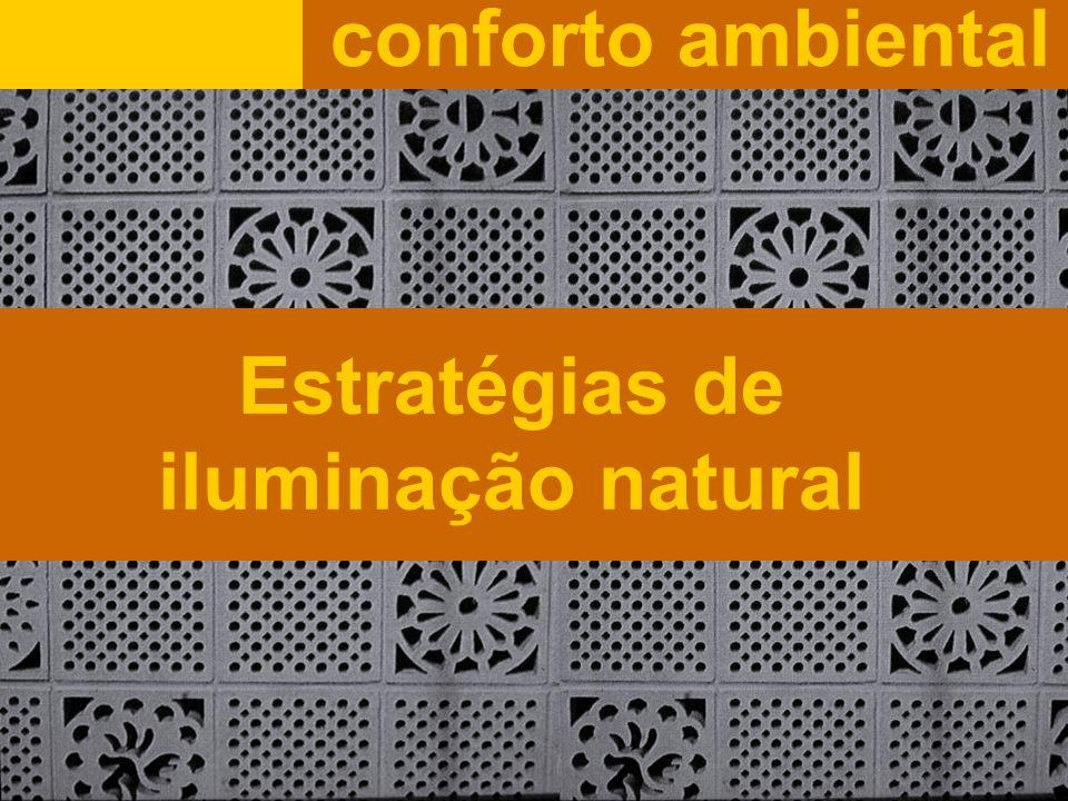 Estratégias de iluminação natural conforto ambiental