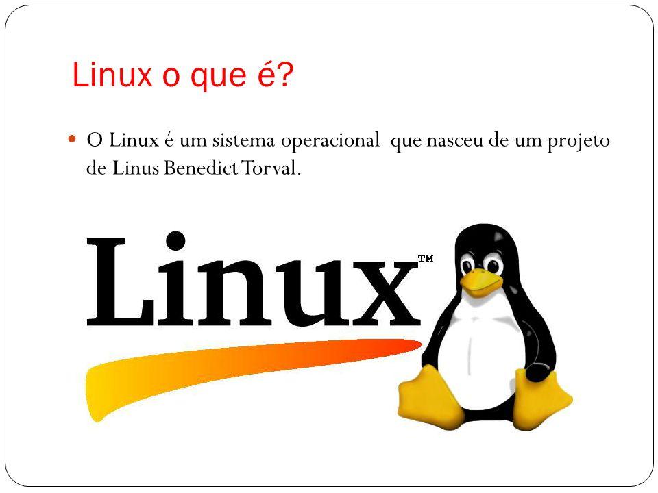 Linux o que é? O Linux é um sistema operacional que nasceu de um projeto de Linus Benedict Torval.