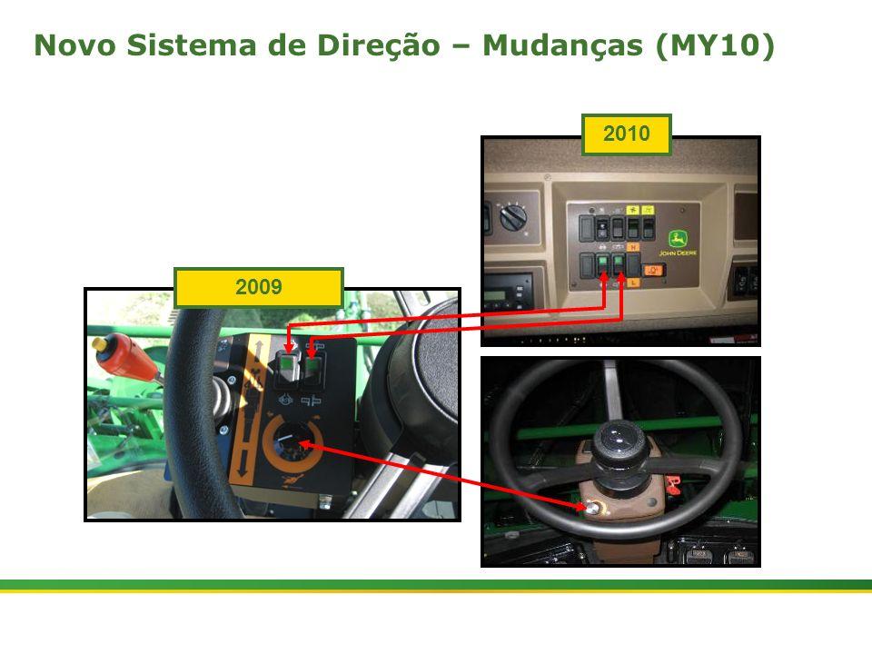 |Colhedora de Cana 3520 & 3522 : Cabine e Plataforma do Operador | Janeiro, 201011 2009 2010 Novo Sistema de Direção – Mudanças (MY10)