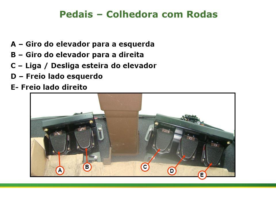|Colhedora de Cana 3520 & 3522 : Cabine e Plataforma do Operador | Janeiro, 201012 A BC Pedais – Colhedora com Rodas D E A – Giro do elevador para a e