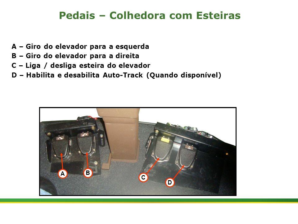 |Colhedora de Cana 3520 & 3522 : Cabine e Plataforma do Operador | Janeiro, 201013 Pedais – Colhedora com Esteiras A – Giro do elevador para a esquerd