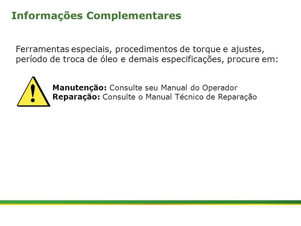 |Colhedora de Cana 3520 & 3522 : Cabine e Plataforma do Operador | Janeiro, 201025 Manutenção: Consulte seu Manual do Operador Reparação: Consulte o M