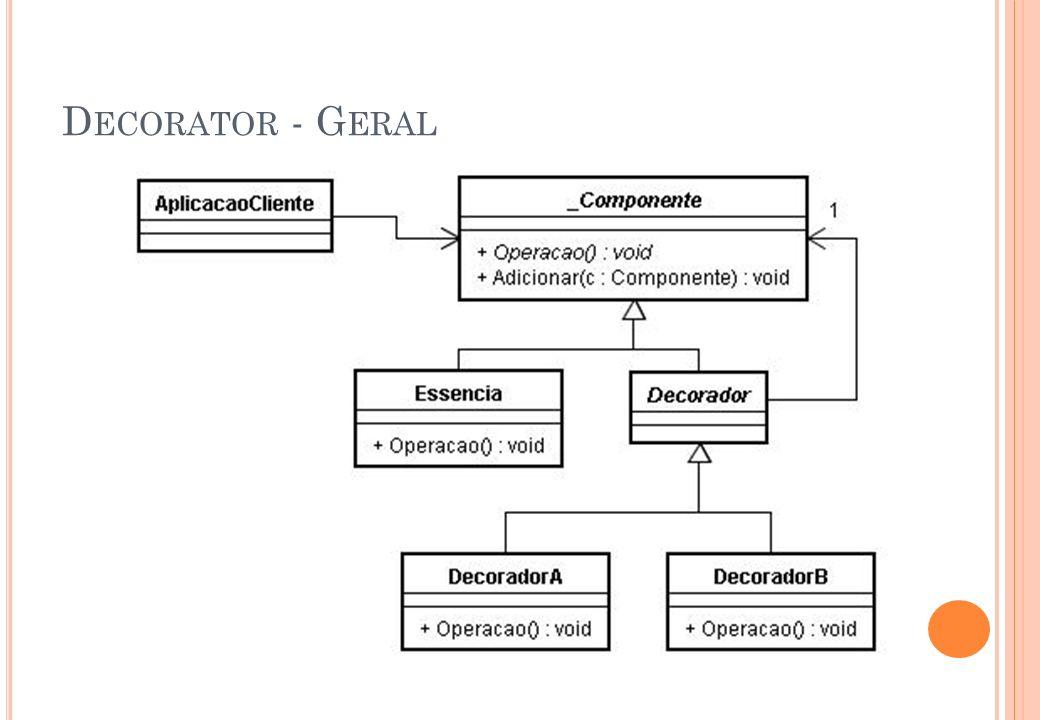 P ADRÃO A BSTRACT F ACTORY (F ÁBRICA A BSTRATA ) Kit ou Toolkit Permite a criação de instâncias de um conjunto de classes abstratas relacionadas a partir de respectivo um conjunto de classes concretas.