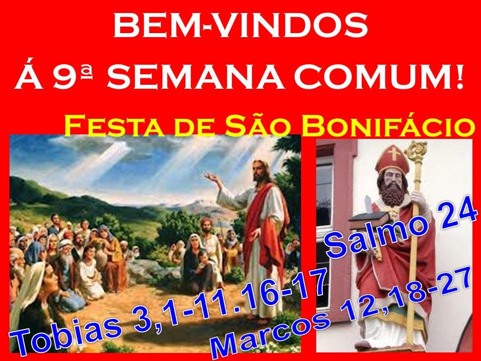 BEM-VINDOS Á 9ª SEMANA COMUM! Festa de São Bonifácio