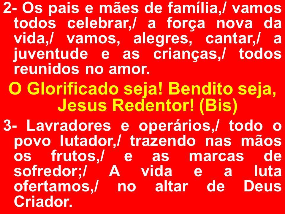 ORAÇÃO EUCARÍSTICA: (II) PADRE: (Oração do Sacerdote): Por Cristo, com Cristo, em Cristo, a vós, Deus Pai Todo- Poderoso, na unidade do Espírito Santo, toda a honra e toda a glória, agora e para sempre.