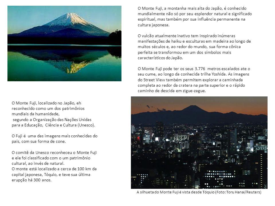 O Monte Fuji, a montanha mais alta do Japão, é conhecido mundialmente não só por seu esplendor natural e significado espiritual, mas também por sua in