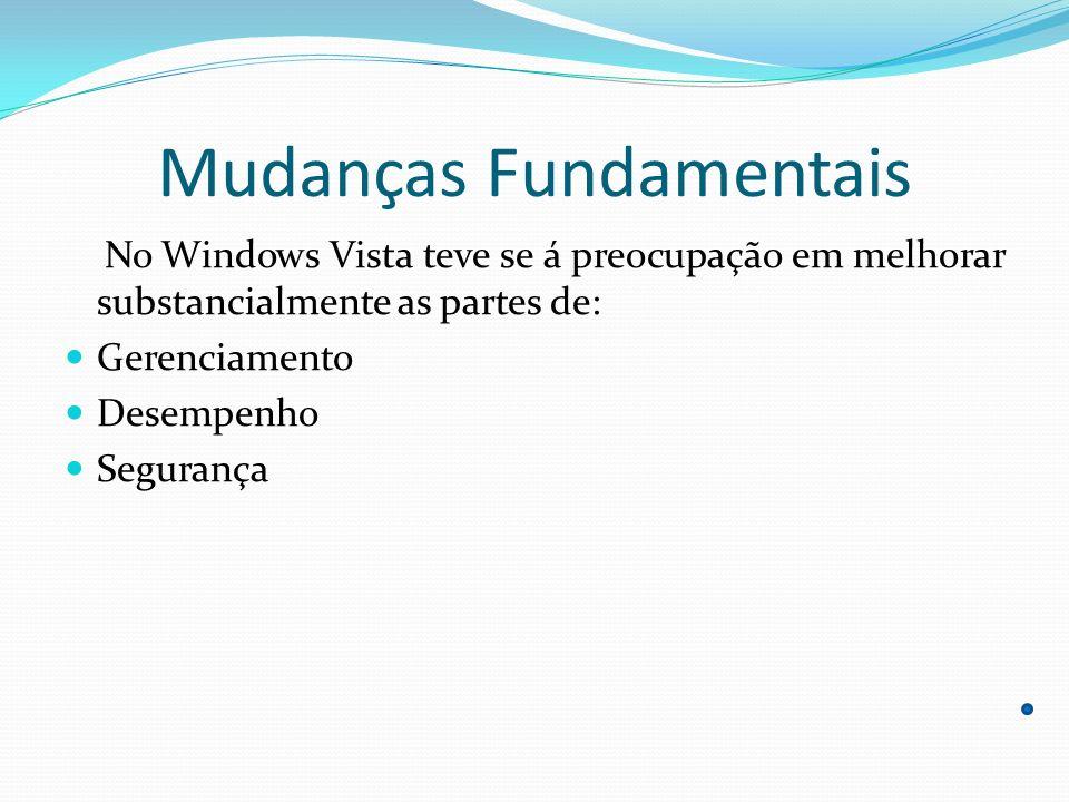 Gerenciamento Capacidade de gerenciamento Windows Vista ajudará a reduzir o custo total de propriedade (TCO) de PCs através de gerenciamento simplificado, maior automação de tarefas e diagnósticos aprimorados.