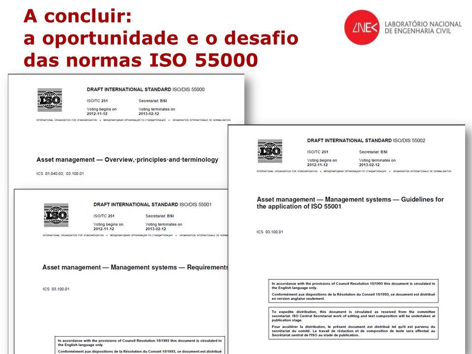 © LNEC 2014 38/40 A concluir: a oportunidade e o desafio das normas ISO 55000