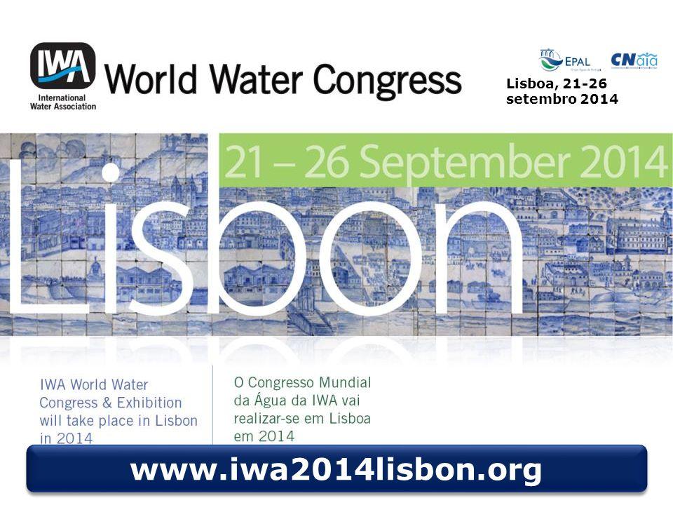 © LNEC 2014 39/40 Lisboa, 21-26 setembro 2014 www.iwa2014lisbon.org