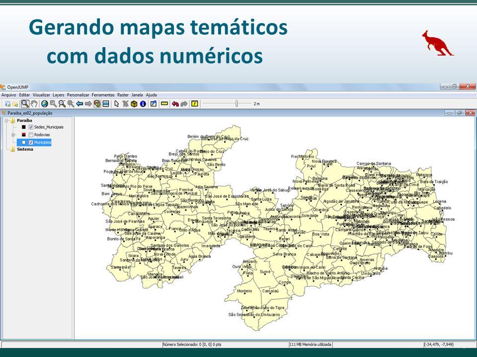 Gerando mapas temáticos com dados numéricos