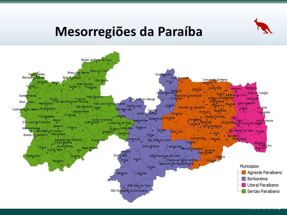 Mesorregiões da Paraíba