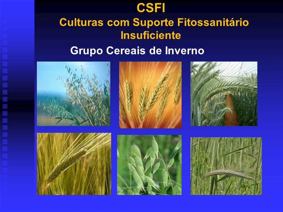 Grupo Cereais de Inverno CSFI Culturas com Suporte Fitossanitário Insuficiente