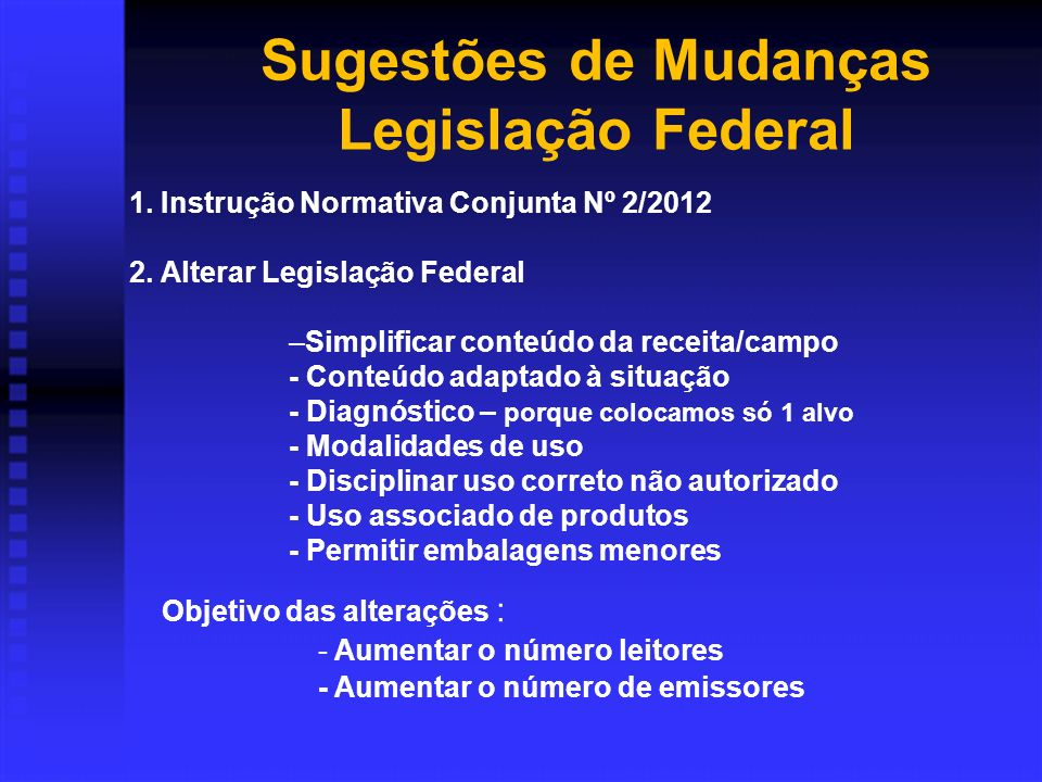 1.Instrução Normativa Conjunta Nº 2/2012 2.