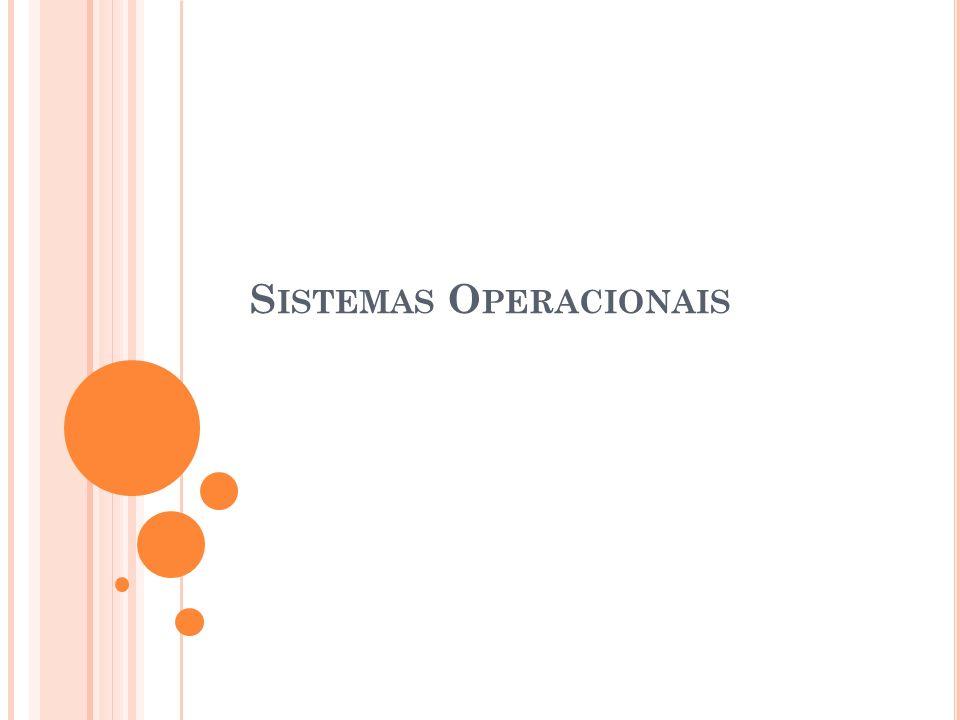 C ONCEITO O sistema operacional é uma camada de software que opera entre o hardware e os programas aplicativos voltados ao usuário final.