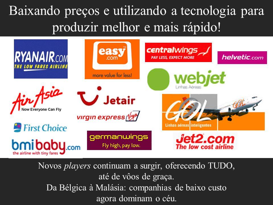 Novos players continuam a surgir, oferecendo TUDO, até de vôos de graça. Da Bélgica à Malásia: companhias de baixo custo agora dominam o céu. Baixando