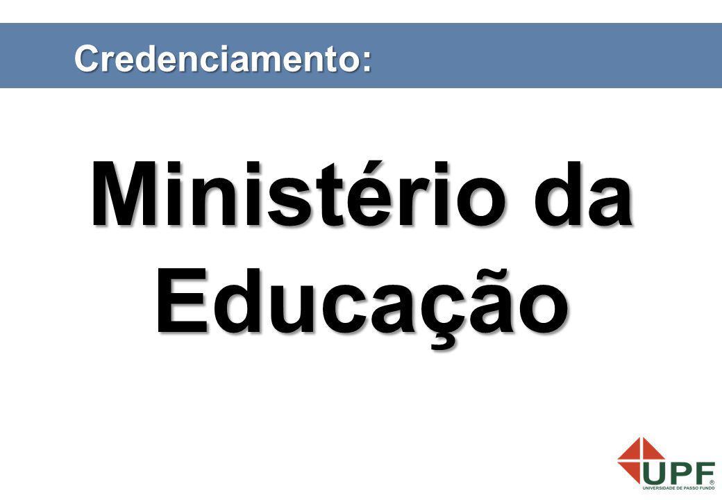 Credenciamento: Ministério da Educação