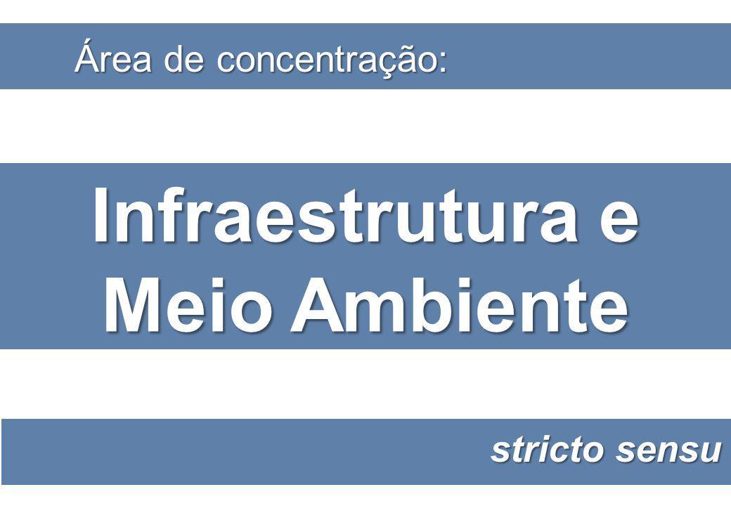 Infraestrutura e Meio Ambiente Área de concentração: stricto sensu