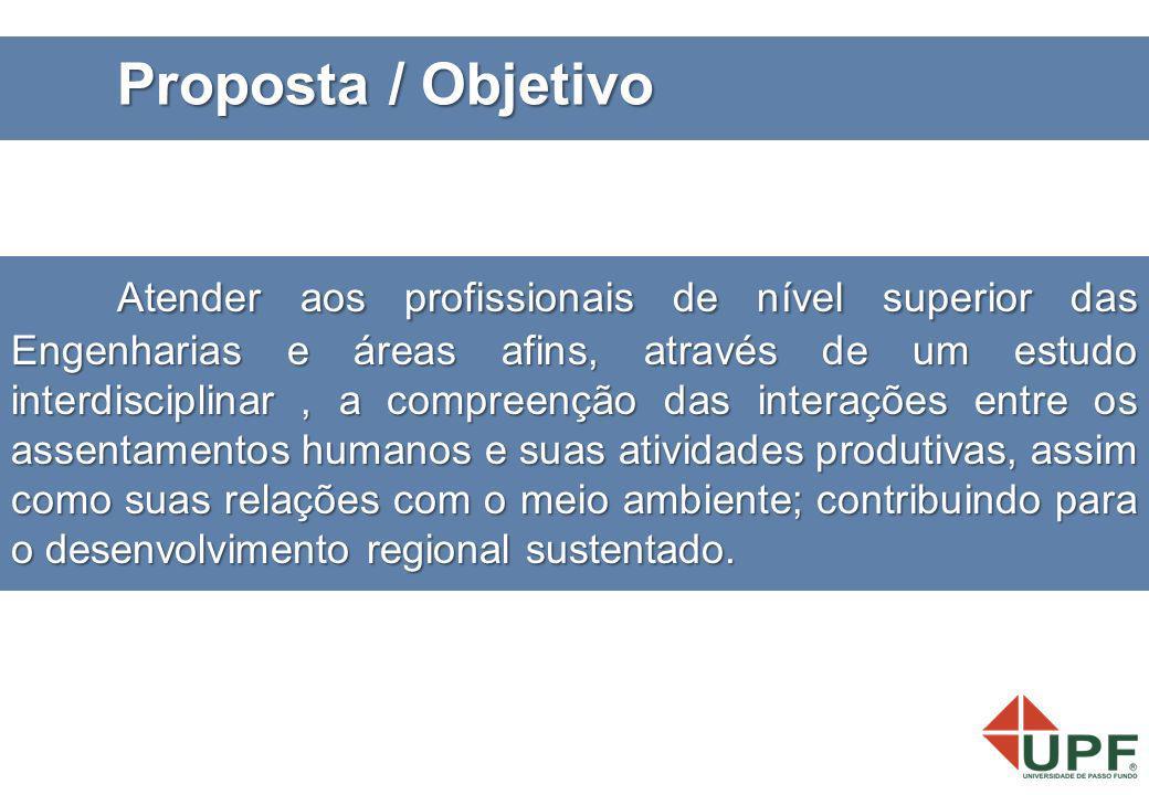 Atender aos profissionais de nível superior das Engenharias e áreas afins, através de um estudo interdisciplinar, a compreenção das interações entre o