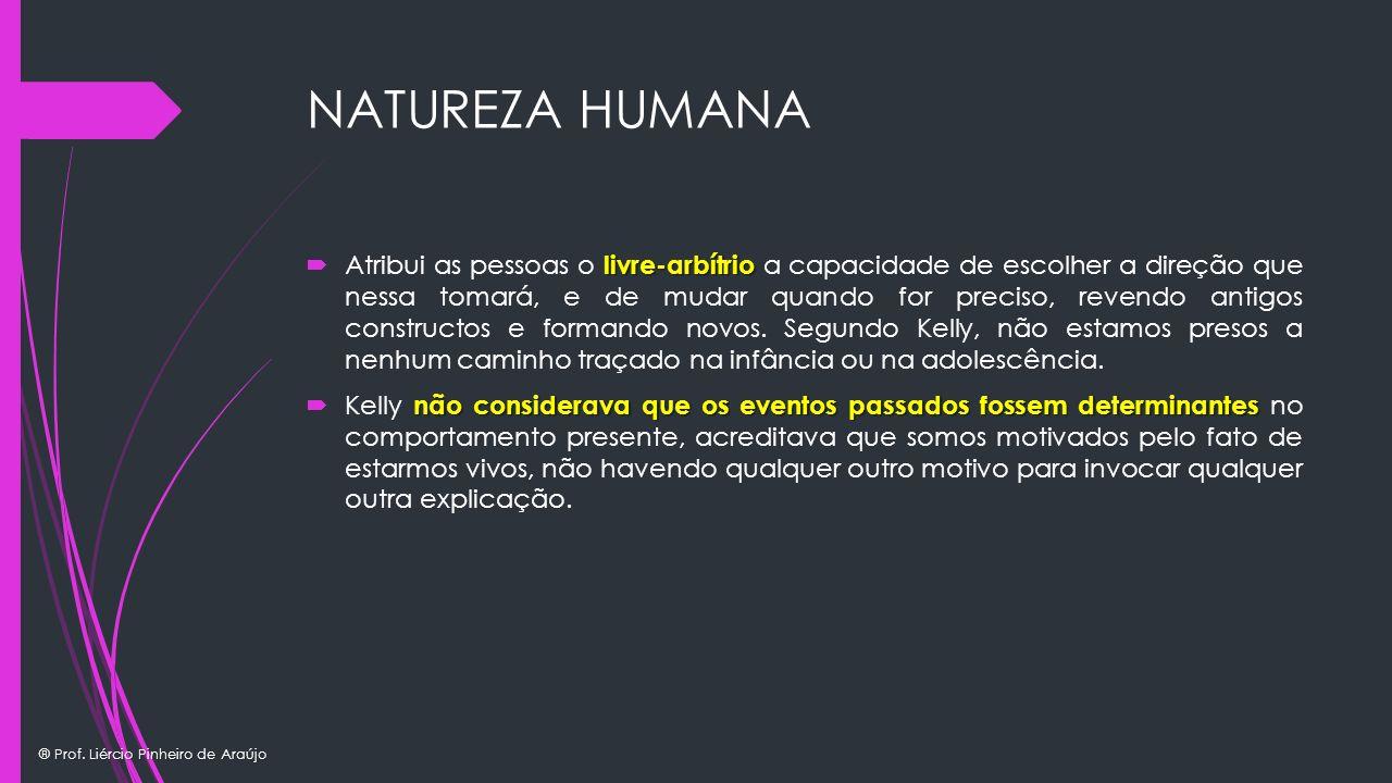 ® Prof. Liércio Pinheiro de Araújo NATUREZA HUMANA livre-arbítrio Atribui as pessoas o livre-arbítrio a capacidade de escolher a direção que nessa tom