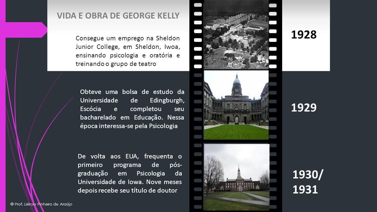 ® Prof. Liércio Pinheiro de Araújo 1928 1929 1930/ 1931 Obteve uma bolsa de estudo da Universidade de Edingburgh, Escócia e completou seu bacharelado