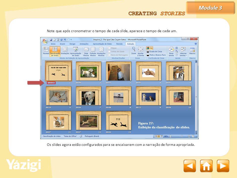 Module 3 CREATING STORIES Os slides agora estão configurados para se encaixarem com a narração de forma apropriada.