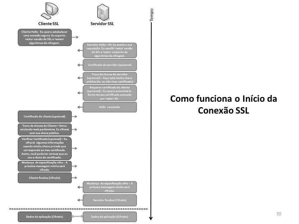30 Como funciona o Início da Conexão SSL